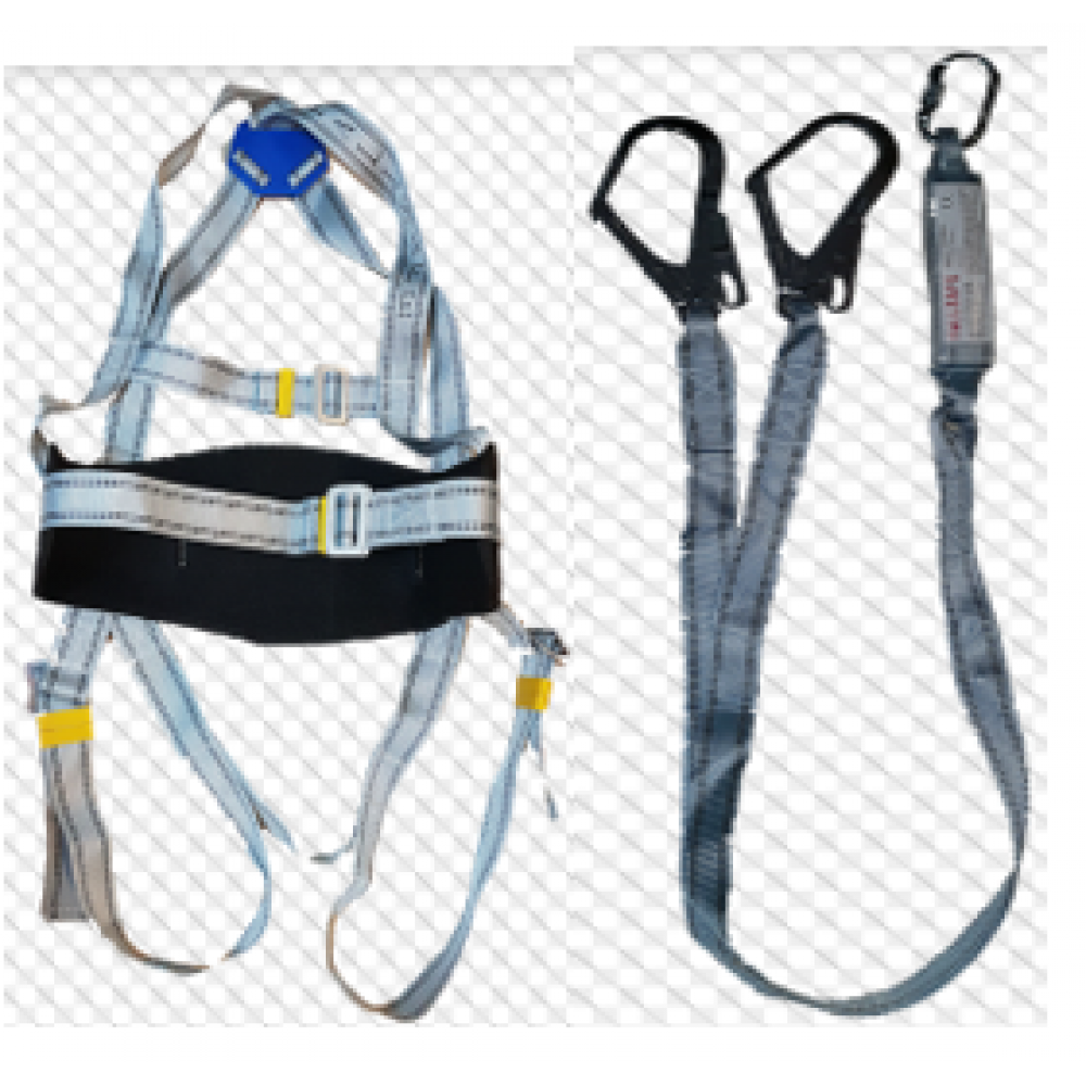 Five Points Full Body Double Hook Safety Harness For Labor Working Construction Worker Protect Equipment With Buffer Safety Fall Arrest Harness Kit