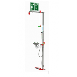Spill Station Combination Safety Shower & Eyewash with Stainless Steel Bowl